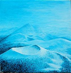 Manuel Moreso l`atelier du pouzadoux auvergne issoire perrier peinture tableau toile acrylique paysage auvergne volcans chaine des puys puy de dome