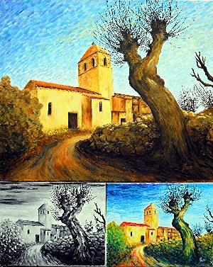 atelier du pouzadoux auvergne vannerie peinture artistique eglise chalus puy de dome