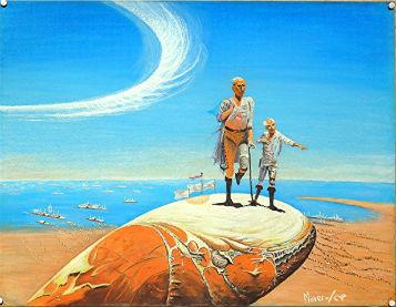 Manuel Moreso l`atelier du pouzadoux auvergne issoire perrier peinture artistique toile tableau pastel figuratif contemporain moderne science fiction invasion