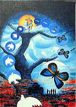 l`atelier du pouzadoux auvergne moreso manuel peinture artistique peintre toile tableau acrylique huile figuratif abstrait contemporain moderne traditionnel
