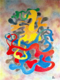 peinture toile tableau abstrait acrylique