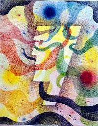 Manuel Moreso l`atelier du pouzadoux auvergne issoire perrier tableau-peinture-artistique-acrylique-silhouette-toile