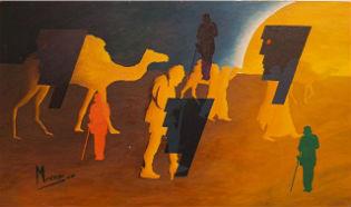 Manuel Moreso l`atelier du pouzadoux auvergne issoire perrier peinture artistique toile tableau acrylique huile figuratif abstrait contemporain moderne theodore monod hommage